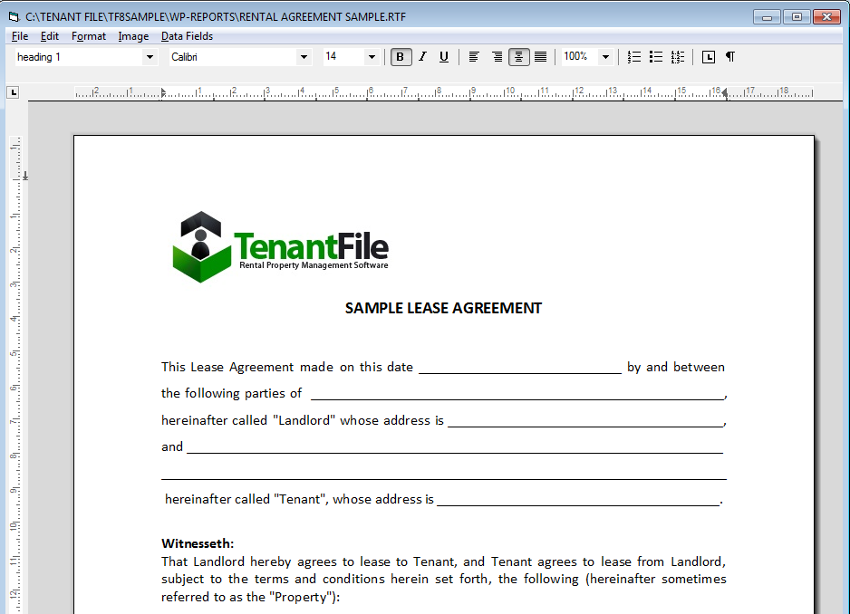 Word Processor Program And Property Management Forms